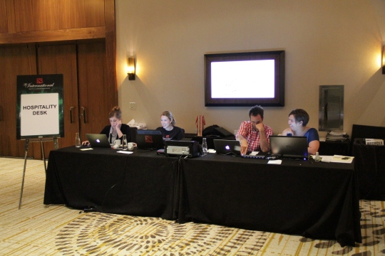 Great folks of Valve and MCW Events at the hospitality desk. Give these peeps a medal!